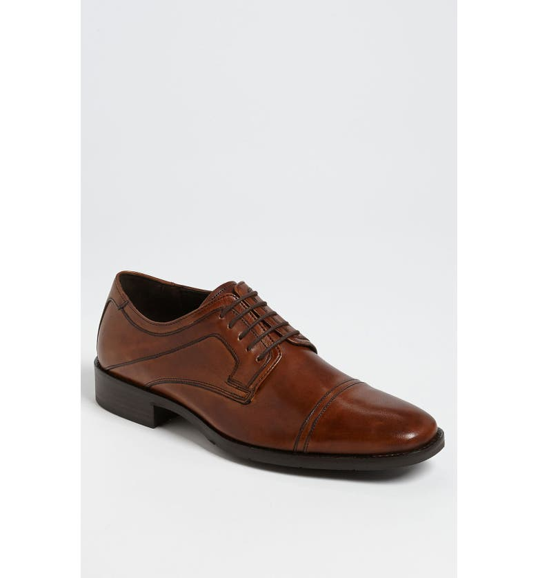 JOHNSTON & MURPHY 'Larsey' Cap Toe Derby, Main, color, TAN