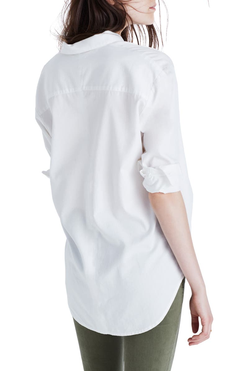 MADEWELL Drapey Oversize Boyshirt, Main, color, PURE WHITE