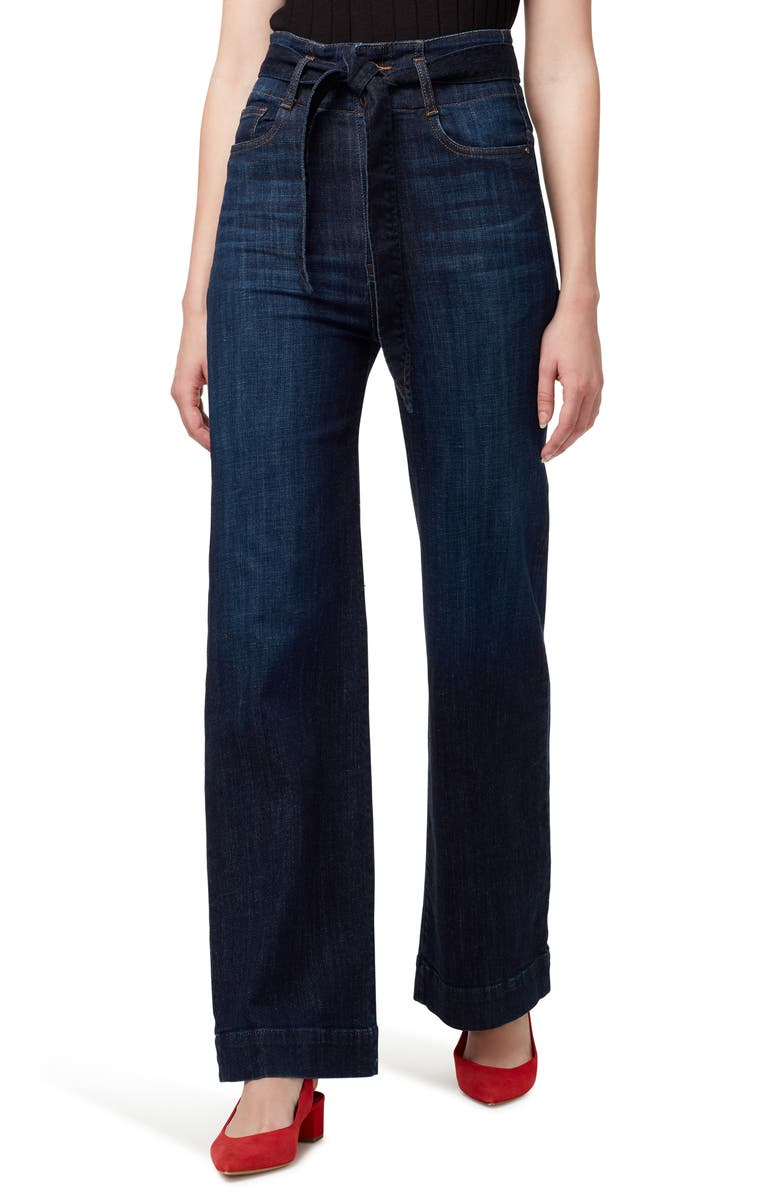 SANCTUARY Paperbag Waist Belted Jeans, Main, color, RIVERSTONE