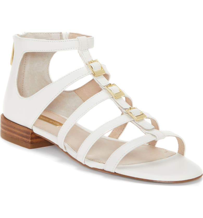 LOUISE ET CIE Arely Strappy Sandal, Main, color, WHITE LEATHER