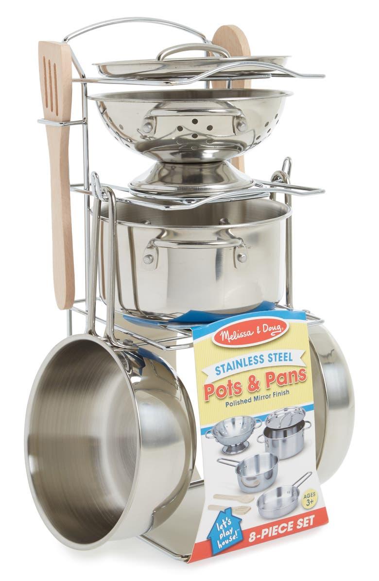 MELISSA & DOUG Wash & Dry Dish Set Toy, Main, color, NO COLOR
