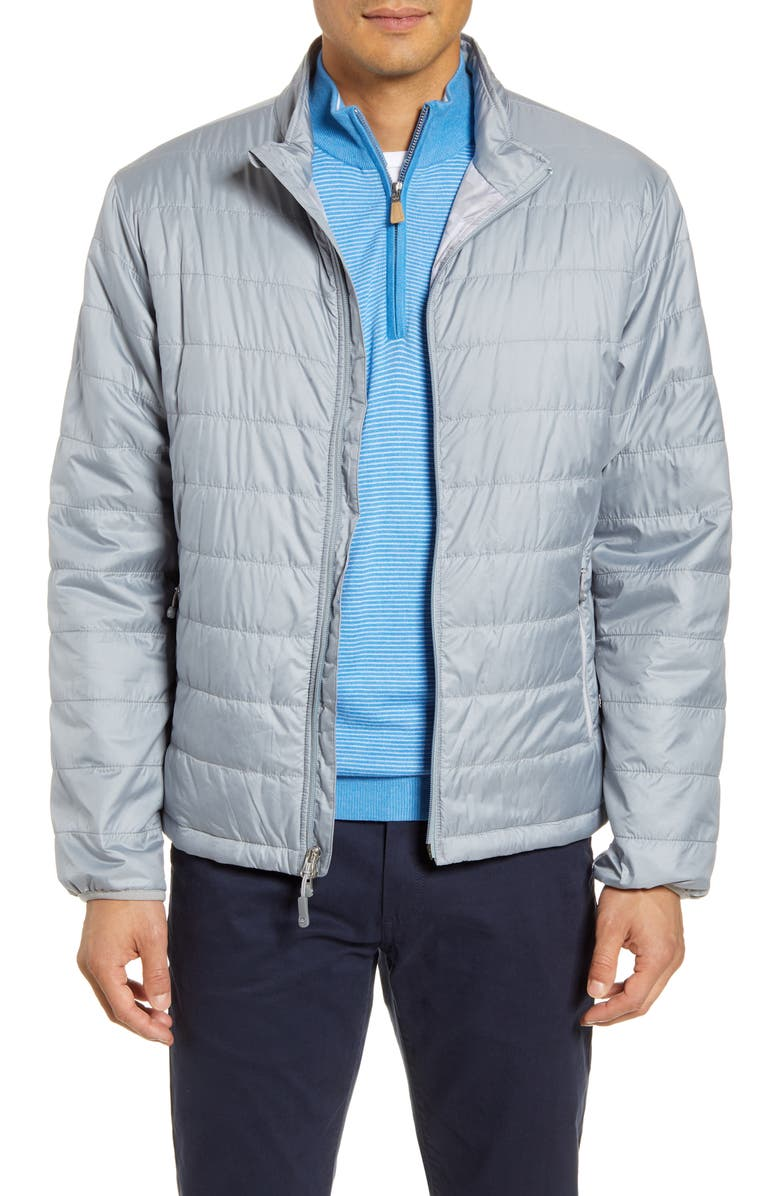 PETER MILLAR Hyperlight Quilted Jacket, Main, color, GALE GREY