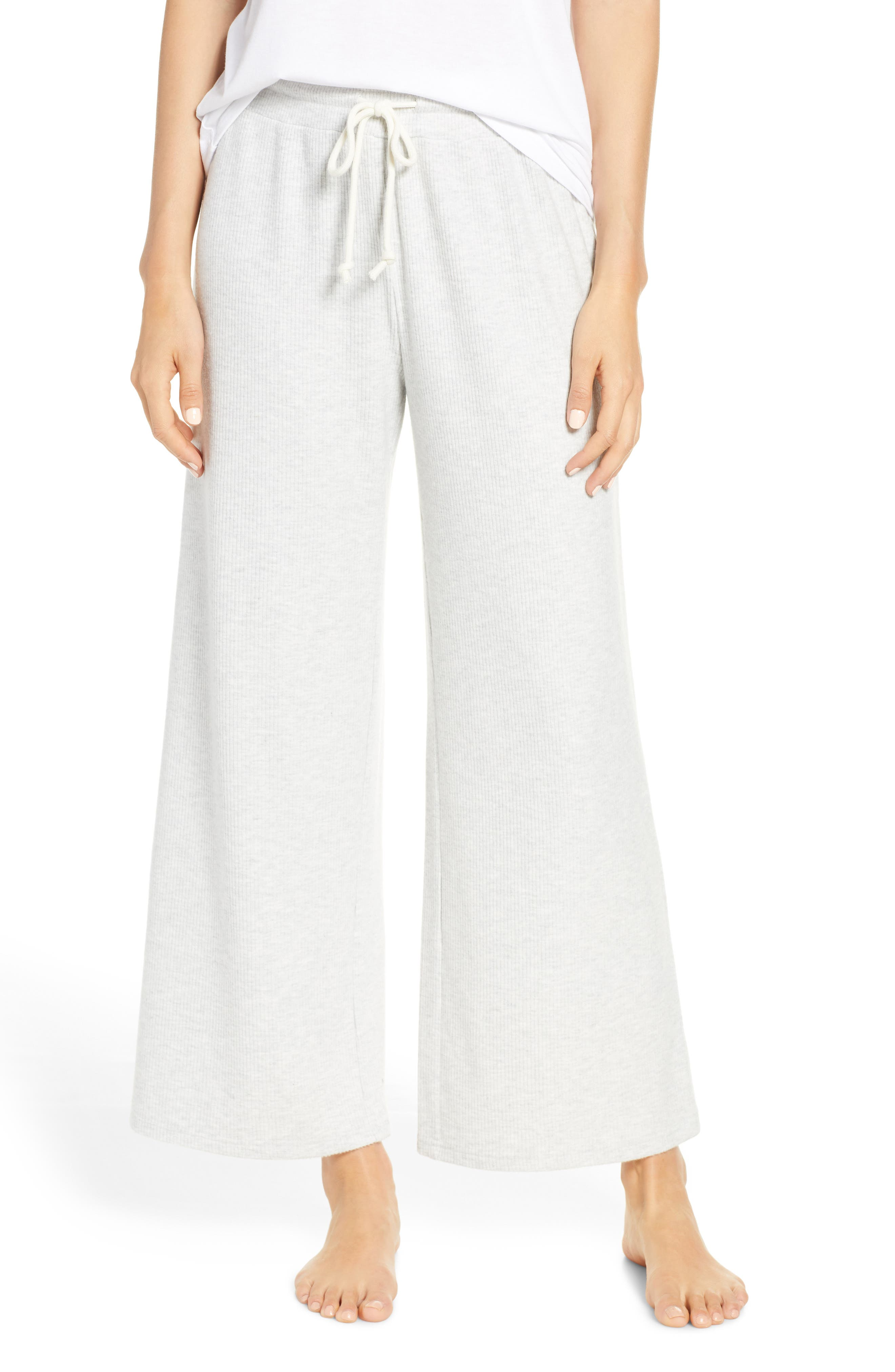 Something Navy Ribbed Pajama Pants, Grey (Nordstrom Exclusive)