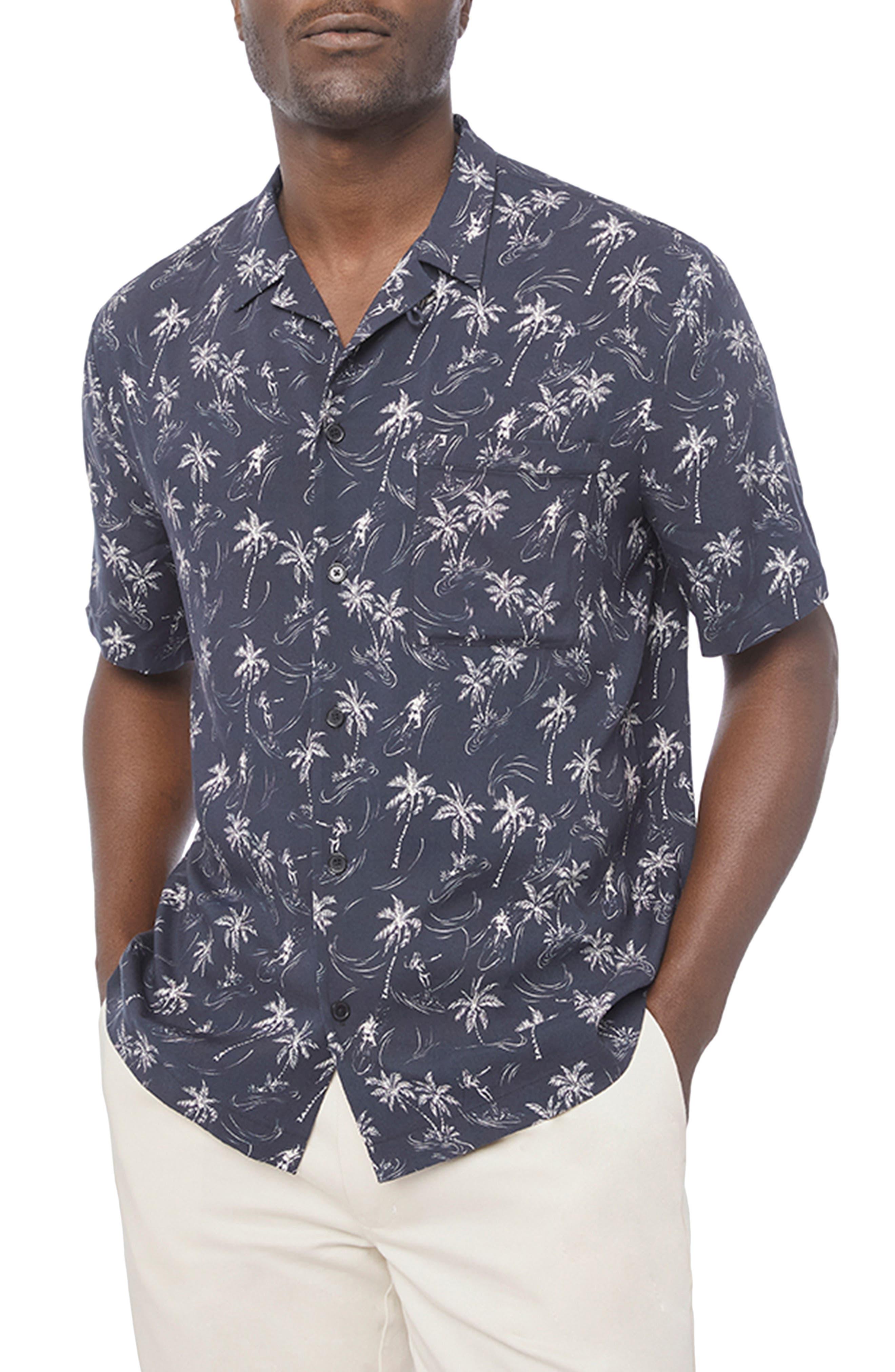 Image of FRAME Tropical Slim Fit Camp Shirt