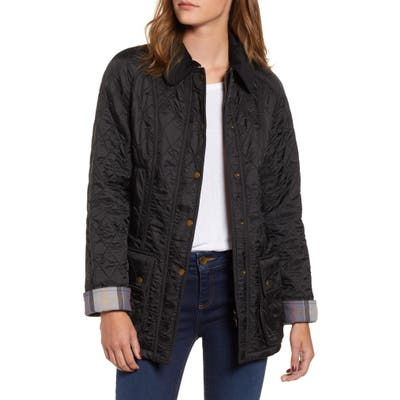 Barbour Beadnell Quilted Jacket, US / 14 UK - Black