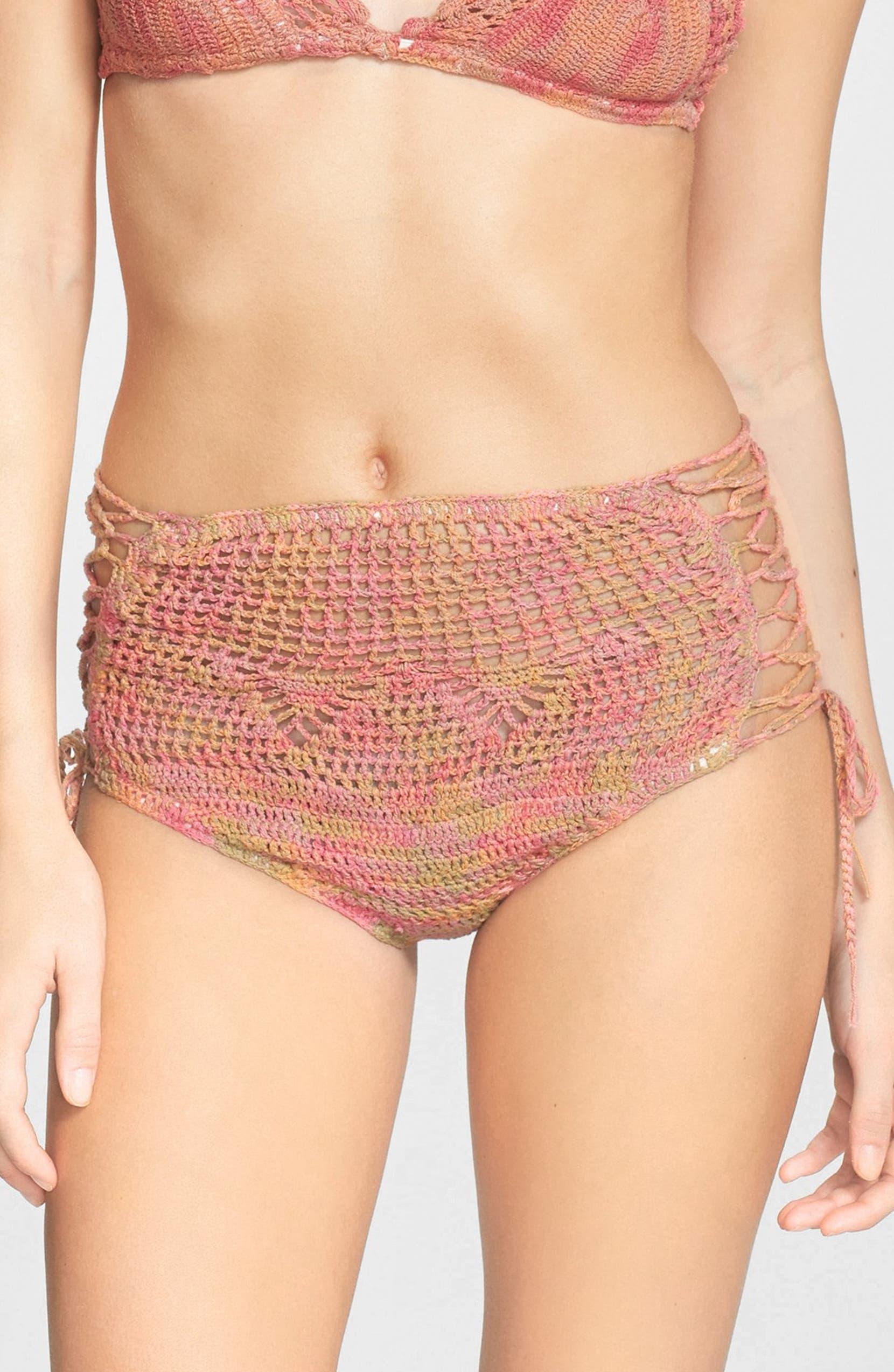 23ae207424 Anna Sui for O'Neill 'Love Birds' Crochet High Waist Bikini Bottoms |  Nordstrom