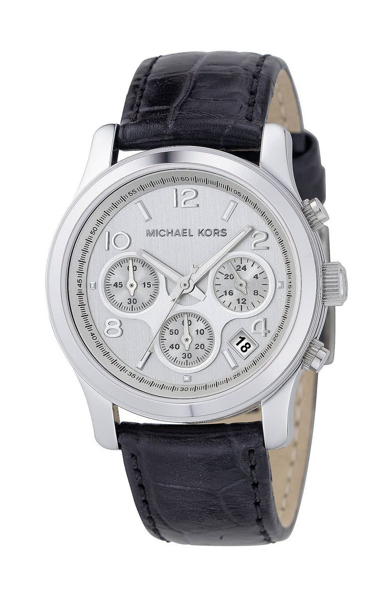 MICHAEL KORS 'Runway' Chronograph Watch, 38mm, Main, color, 001