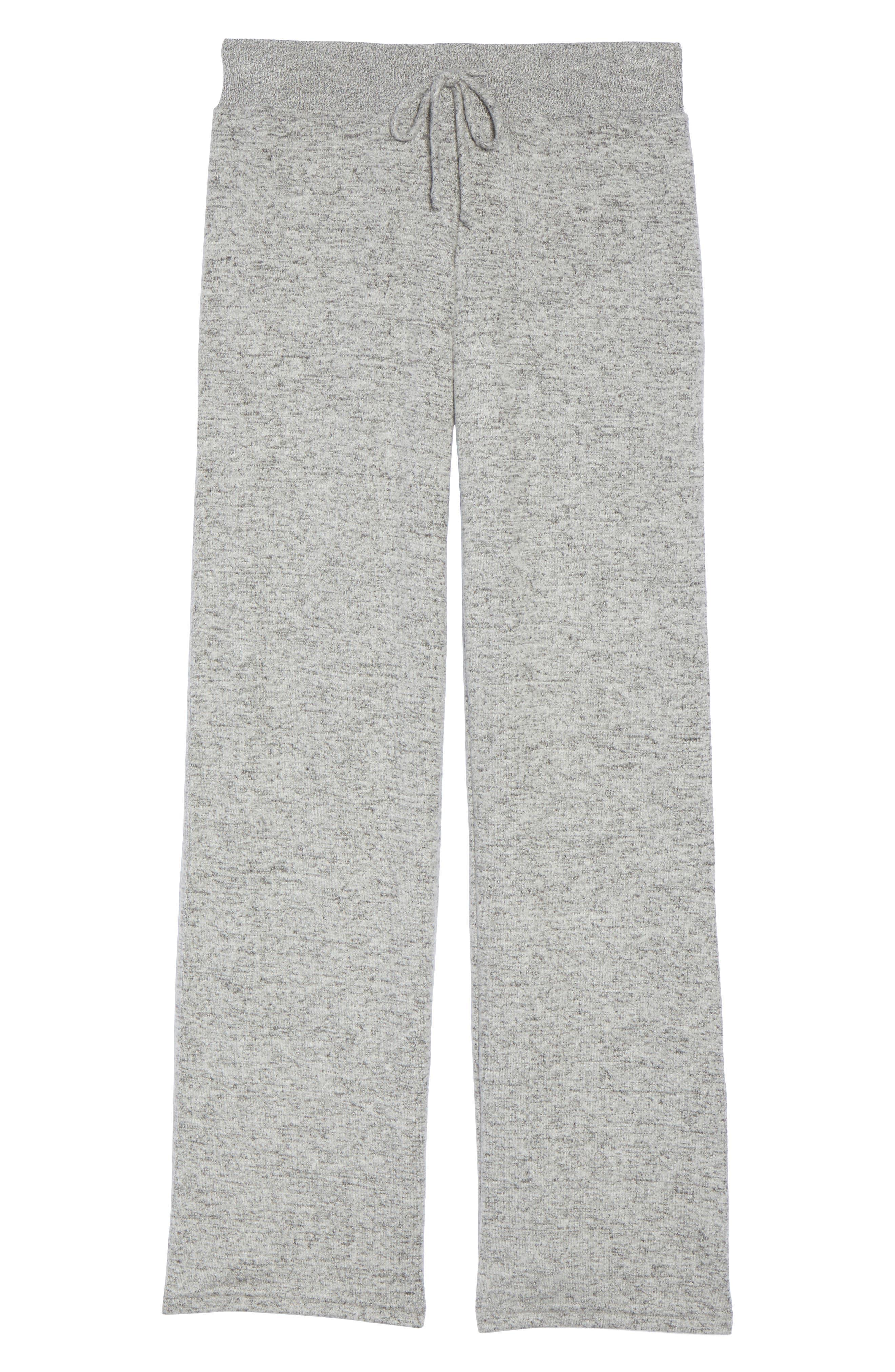 ,                             Best Boyfriend Brushed Hacci Lounge Pants,                             Alternate thumbnail 6, color,                             GREY FLANNEL MARL