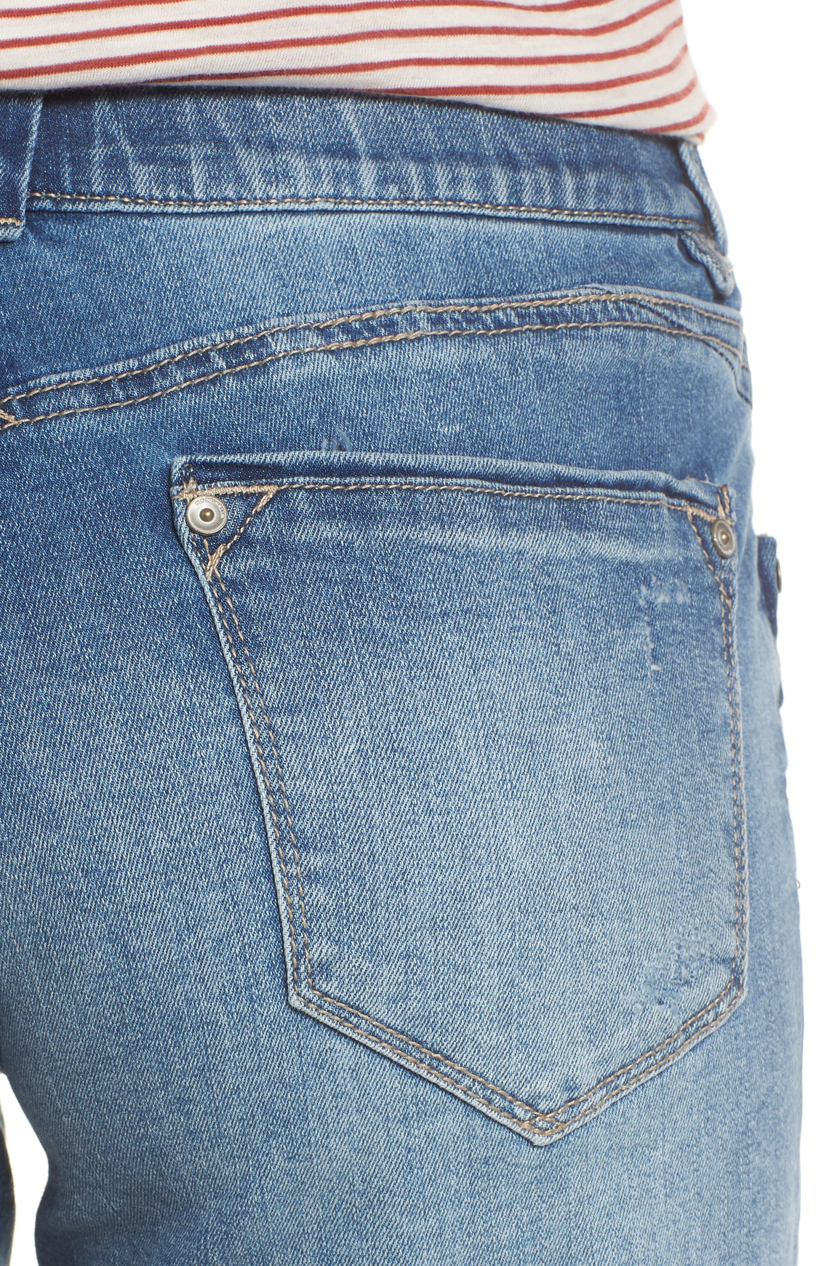 ,                             Ab-solution Denim Shorts,                             Alternate thumbnail 5, color,                             LIGHT BLUE