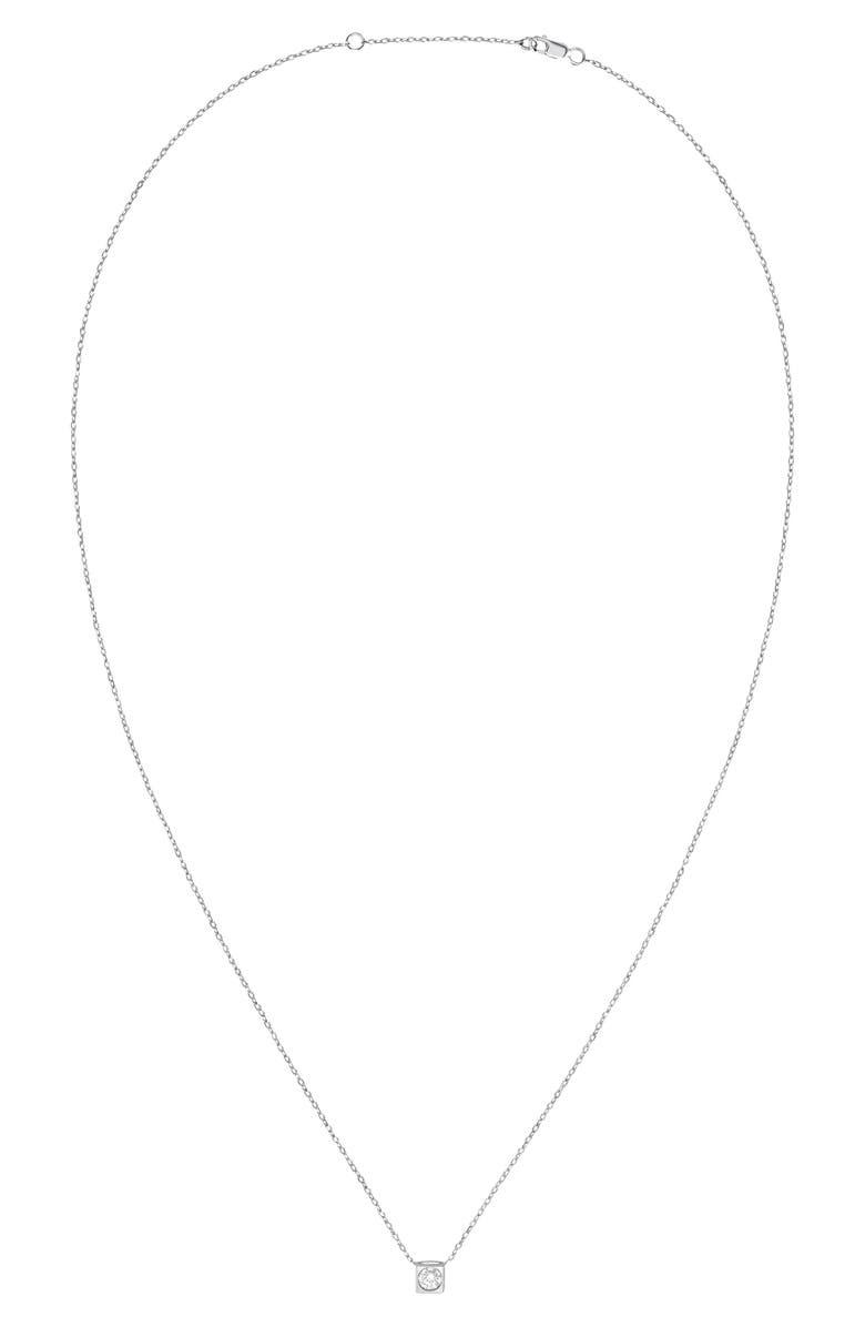 DINH VAN Le Cube Diamant 18K Gold Necklace, Main, color, WHITE GOLD