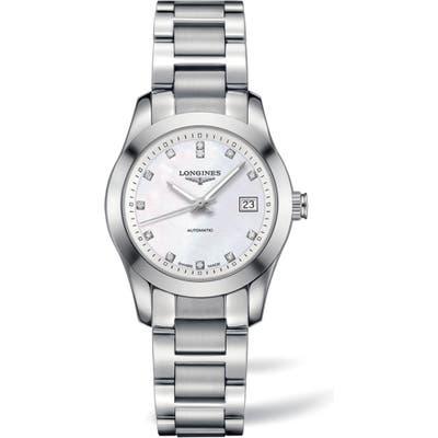 Longines Conquest Classic Automatic Bracelet Watch, 29.5Mm