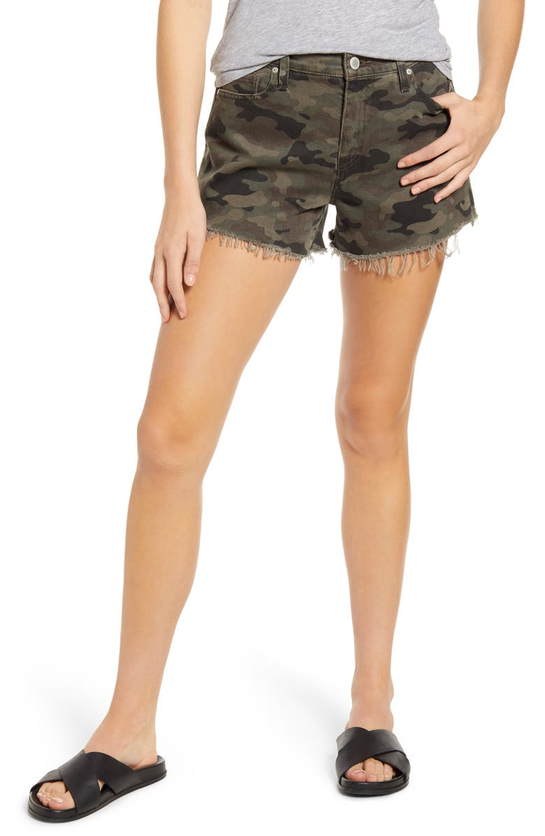 HUDSON JEANS Gemma Cutoff Denim Shorts, Main, color, CLASSIC CAMO