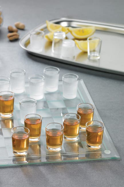 Image of Jay Import Clear Checker Shot Glass Game Set