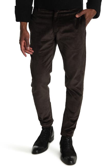 Image of Salvatore Ferragamo Corduroy Zip Ankle Pants