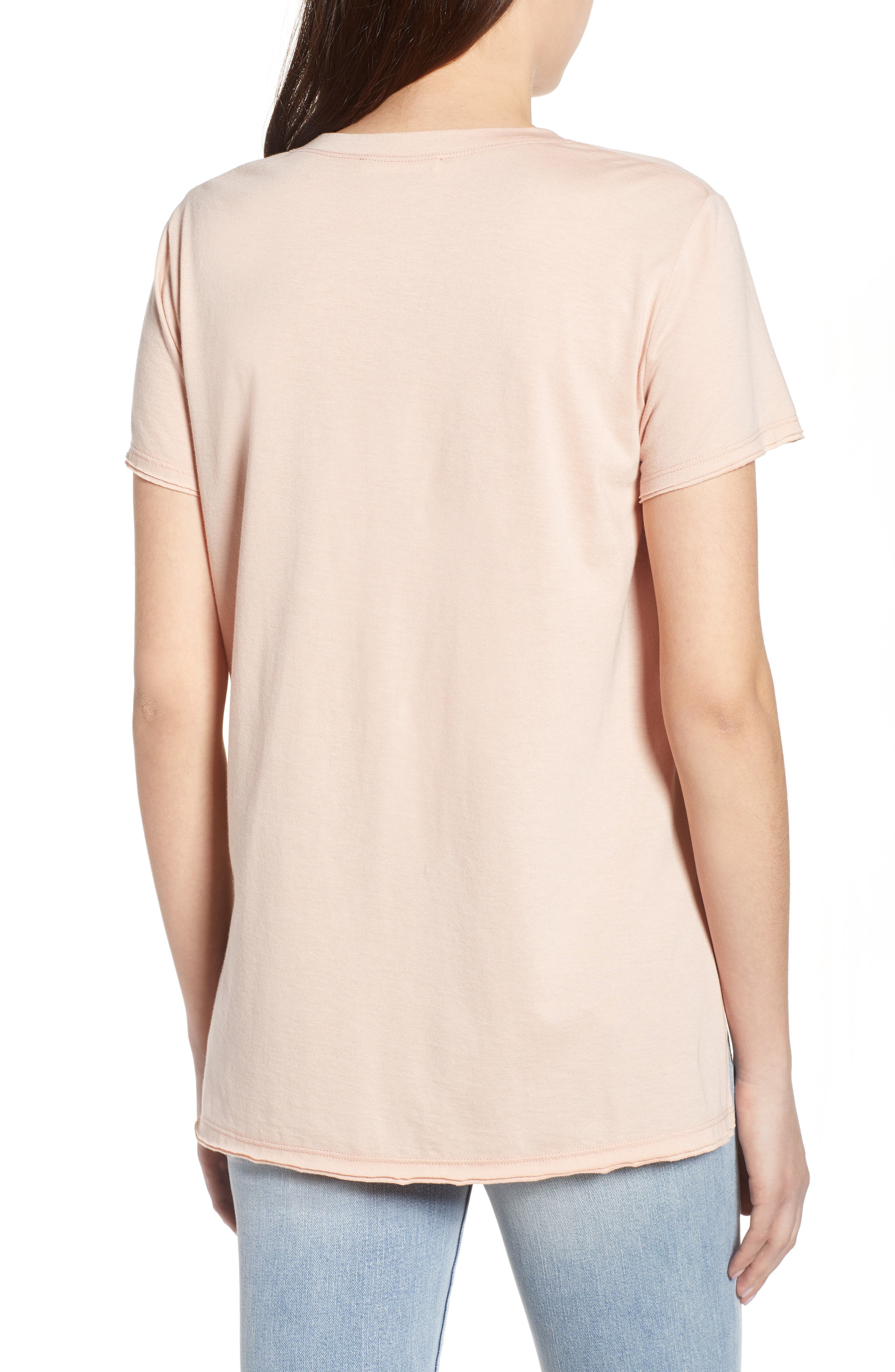 ,                             Raw Edge Side Slit Tee,                             Alternate thumbnail 8, color,                             650