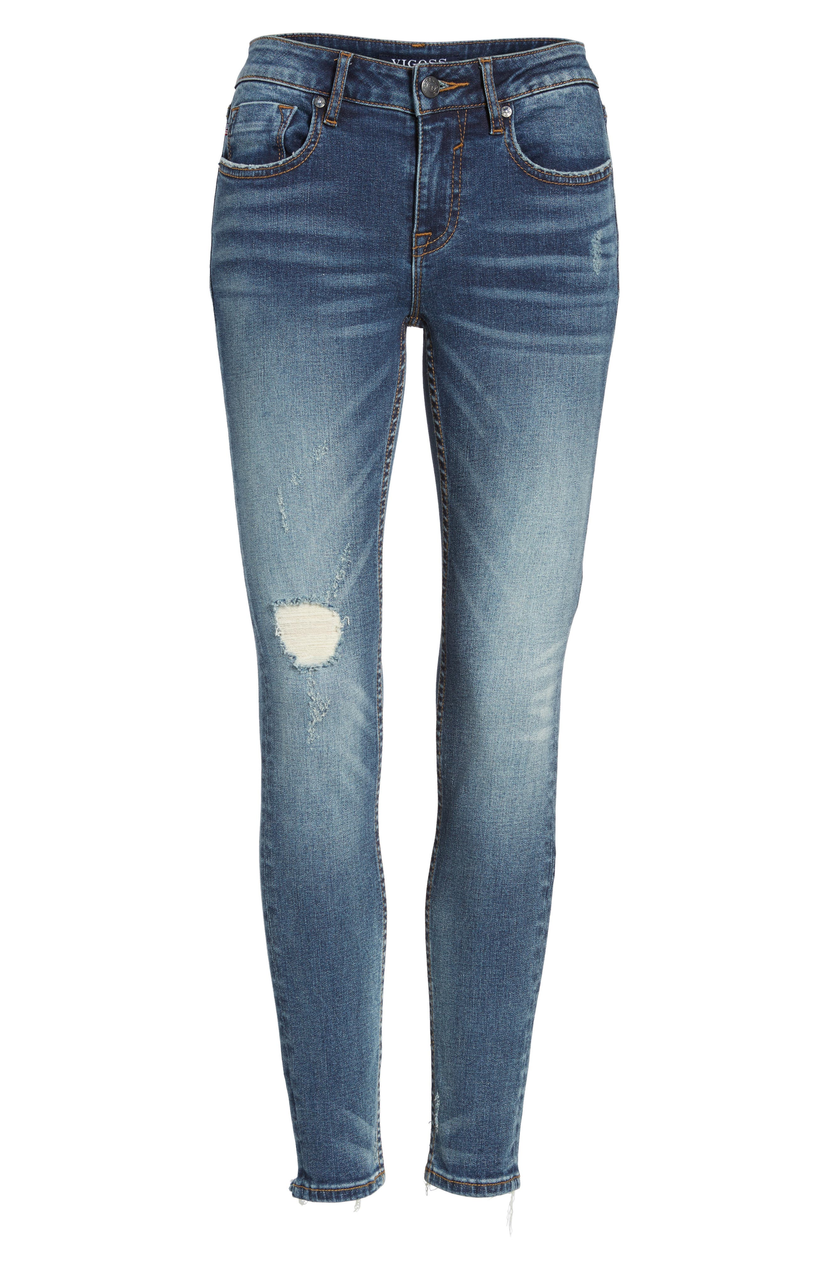 ,                             Jagger Ripped Skinny Jeans,                             Alternate thumbnail 6, color,                             400