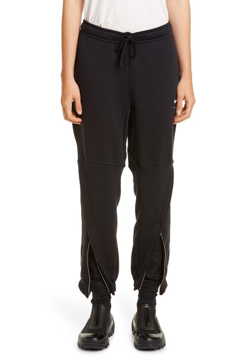 1017 ALYX 9SM x Nike Zip Cuff Sweatpants, Main, color, BLACK