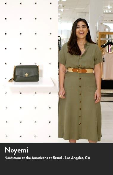 Small Kira Leather Convertible Crossbody Bag, sales video thumbnail