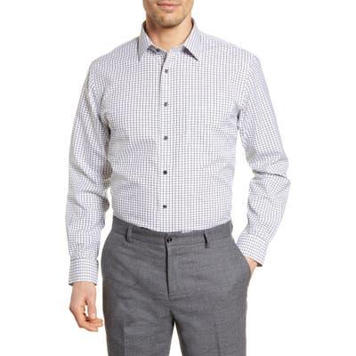 Nordstrom Shop Smartcare(TM) Traditional Fit Check Dress Shirt - Black