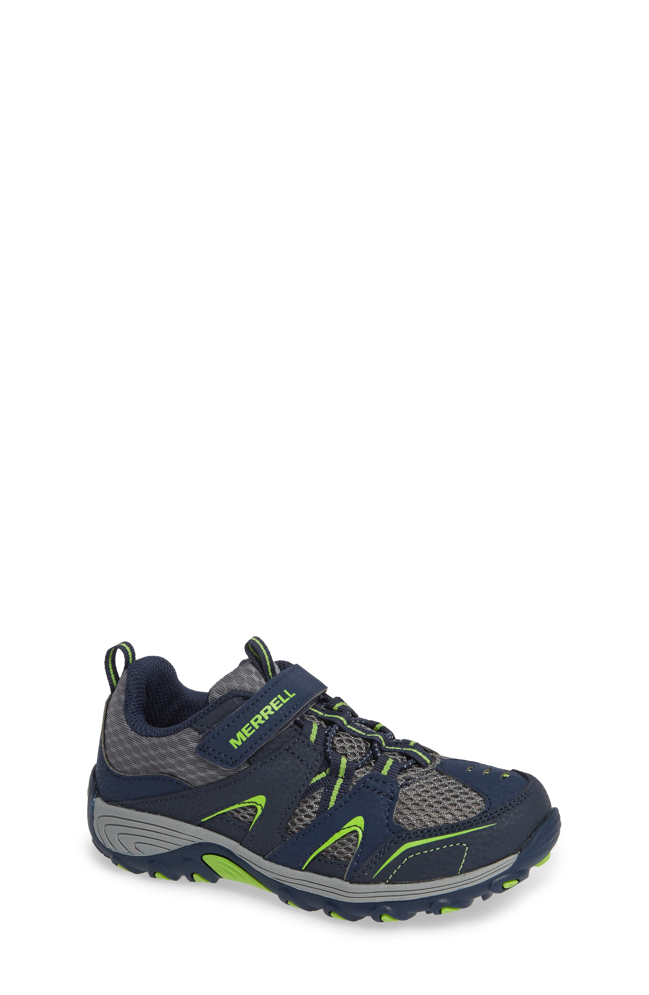 Trail Chaser Sneaker, Main, color, NAVY/ GREEN