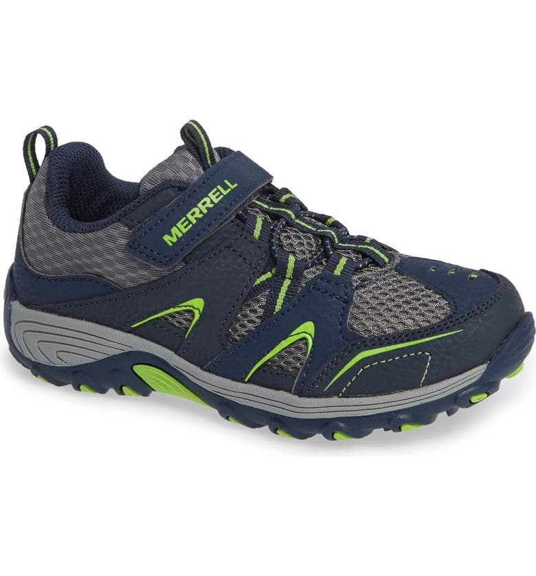 MERRELL Trail Chaser Sneaker, Main, color, NAVY/ GREEN