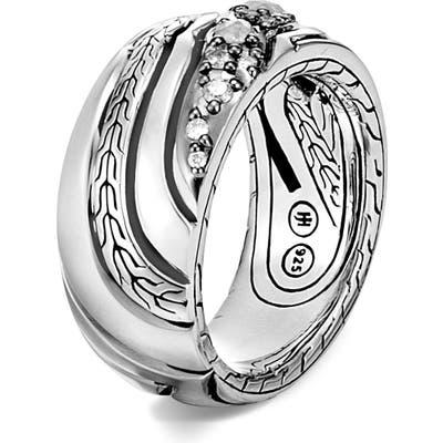 John Hardy Lahar Diamond Band Ring