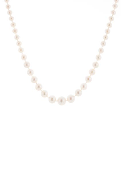 Image of Splendid Pearls Graduated 4-8mm White Cultured Freshwater Pearl Necklace
