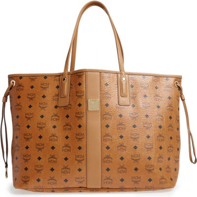 Mcm Large Liz Reversible Shopper - Brown