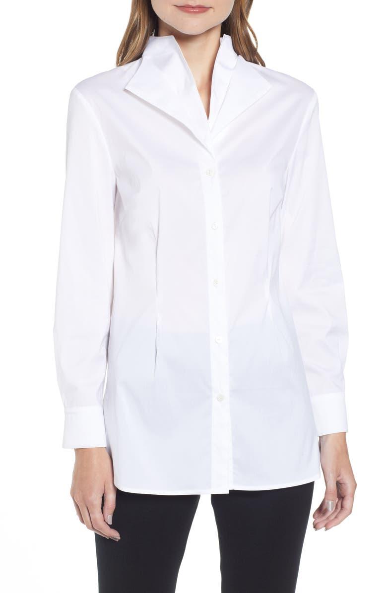 MING WANG Tunic Shirt, Main, color, WHITE