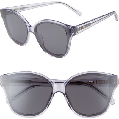 Diff Piper Oversize Cat Eye Sunglasses - Ultra Violet/ Grey