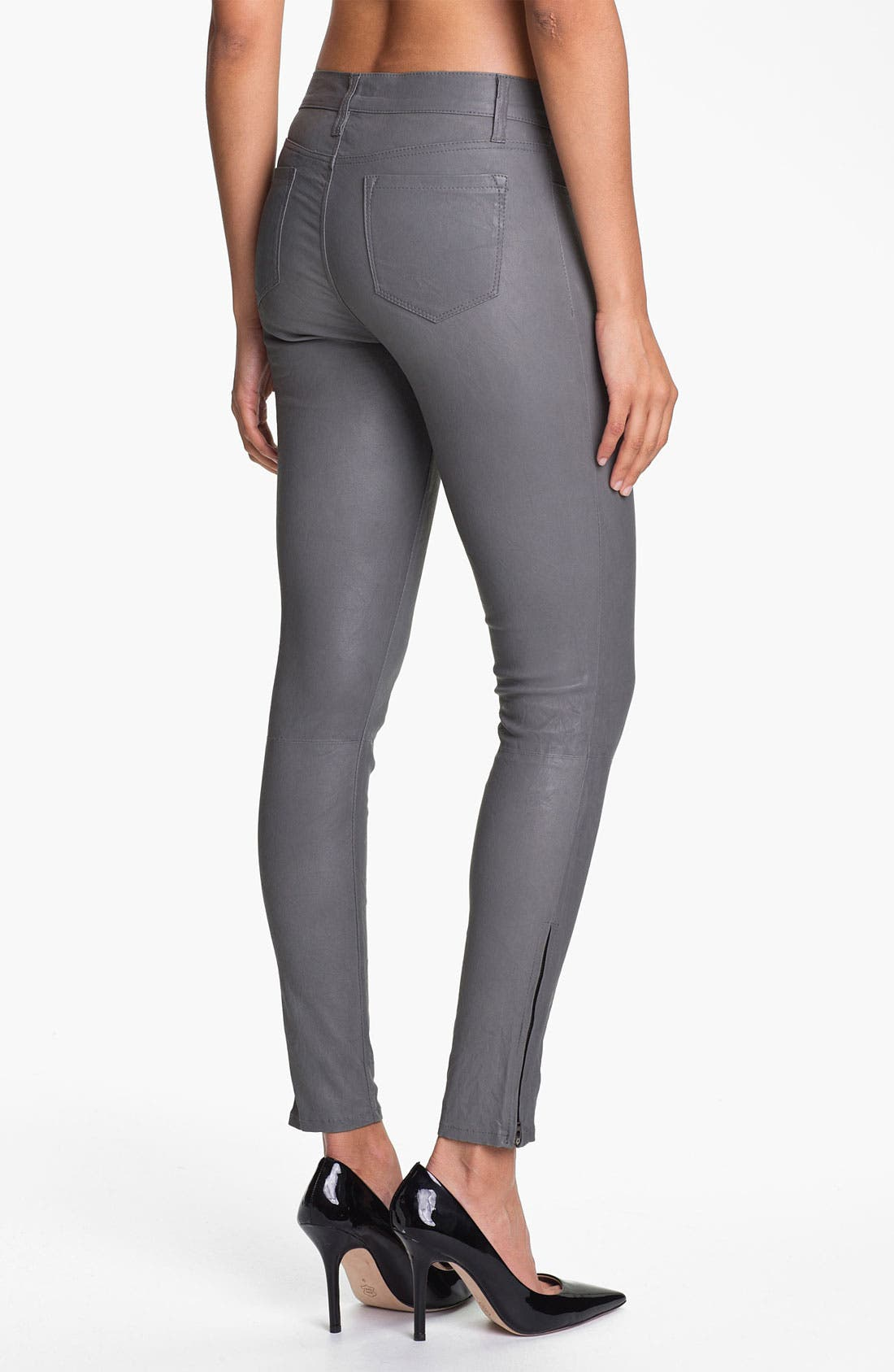 ,                             '8001' Lambskin Leather Pants,                             Alternate thumbnail 40, color,                             022