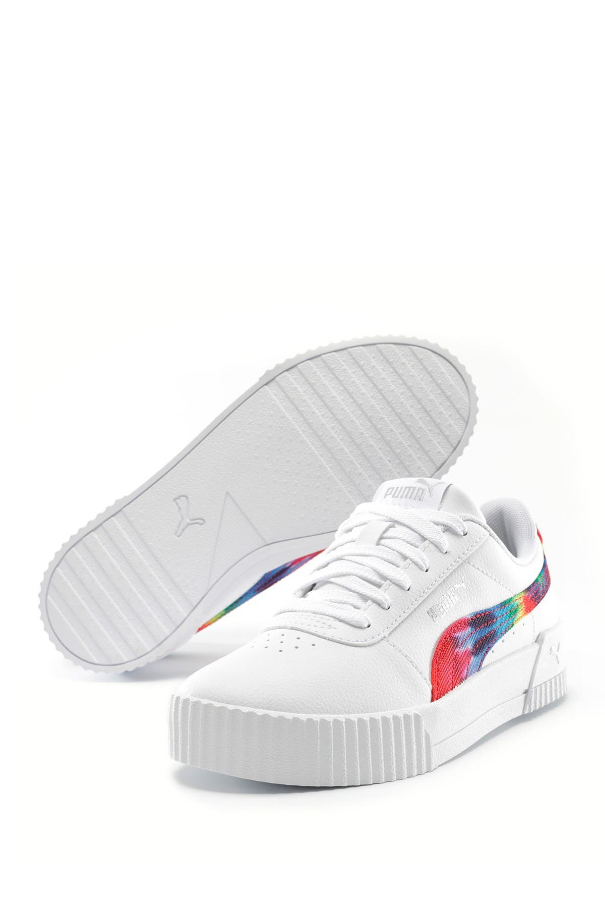 Image of PUMA Carina Tie-Dye Logo Sneaker