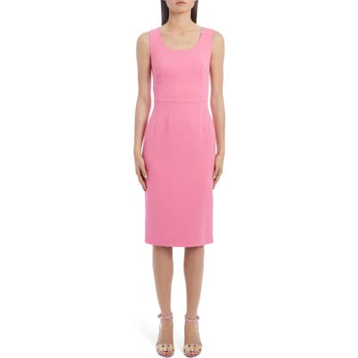 Dolce & gabbana Scoop Neck Sheath Dress, US / 46 IT - Pink