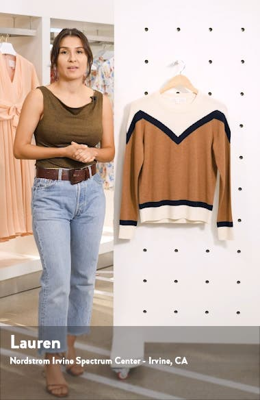 Bradford Stripe Cashmere Sweater, sales video thumbnail