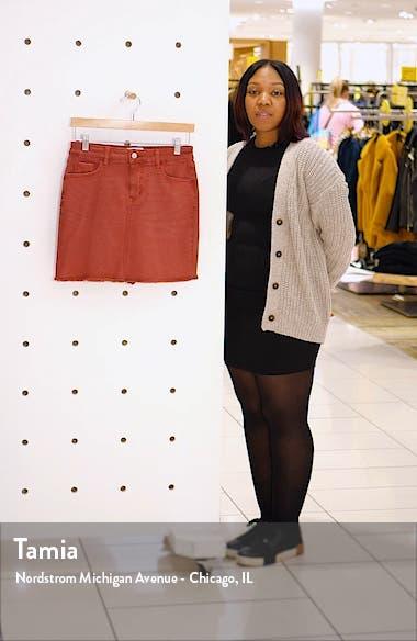 Denim Fray Hem Miniskirt, sales video thumbnail