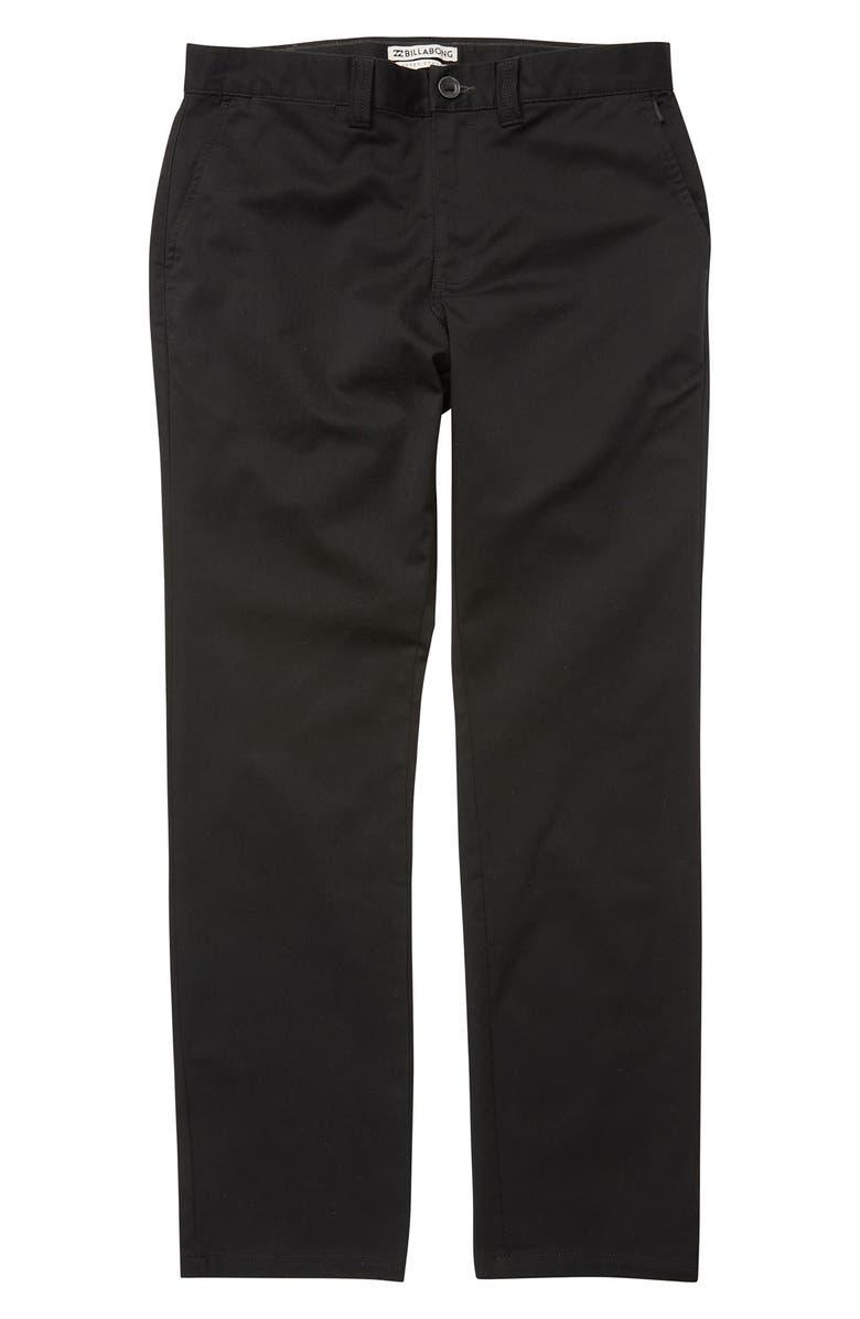 BILLABONG Carter Stretch Chinos, Main, color, BLACK