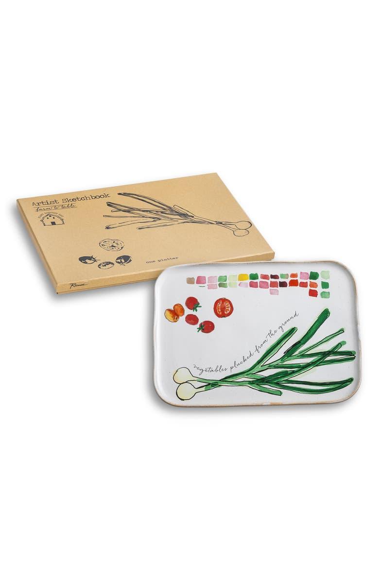 ROSANNA Spring Onion Serving Platter, Main, color, BEIGE/MULTICOLOR