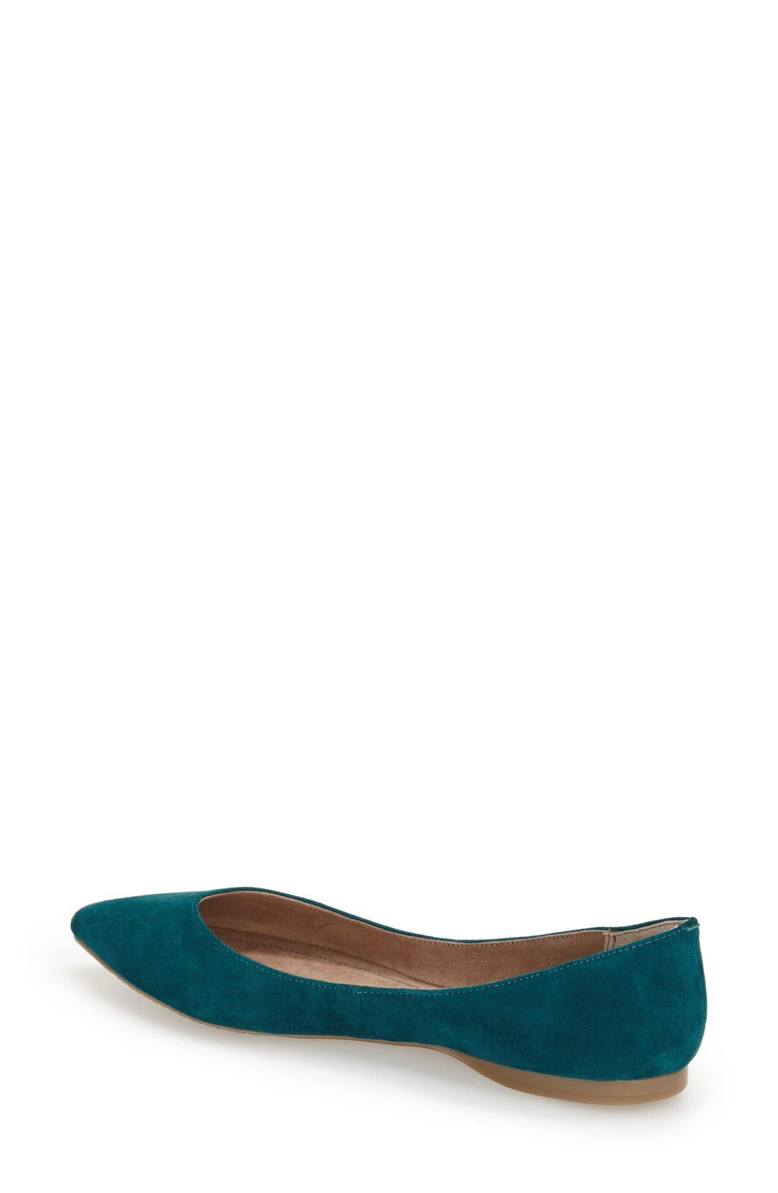 ,                             'Moveover' Pointy Toe Leather Flat,                             Alternate thumbnail 18, color,                             343