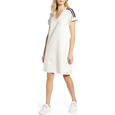 Scotch & Soda Sporty Stripe Sweat Dress, Beige