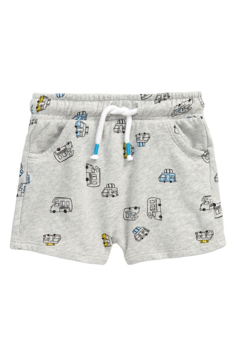 TUCKER + TATE Pull-On Shorts, Main, color, GREY LIGHT HEATHER CAMPER VAN