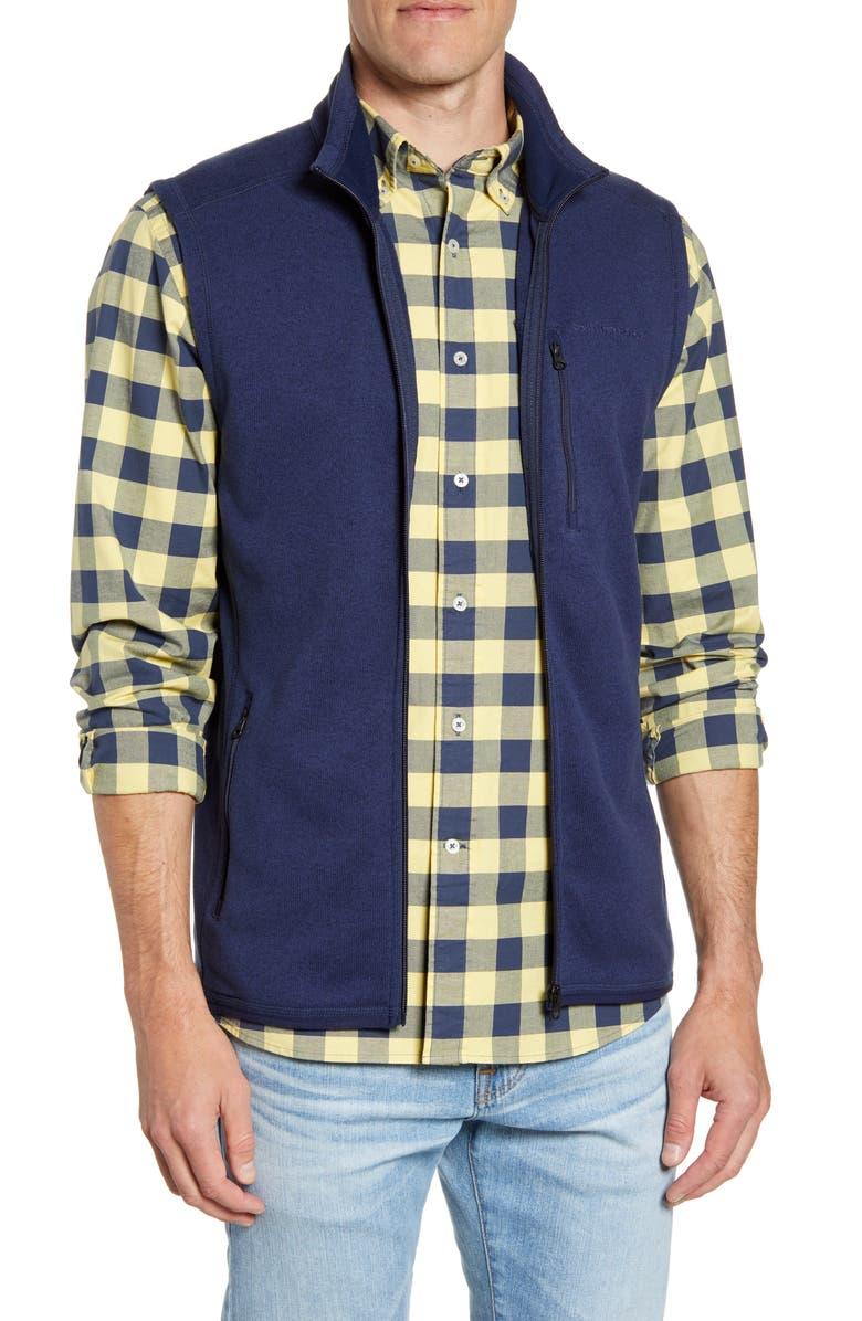 SOUTHERN TIDE Samson Classic Fit Fleece Vest, Main, color, TRUE NAVY