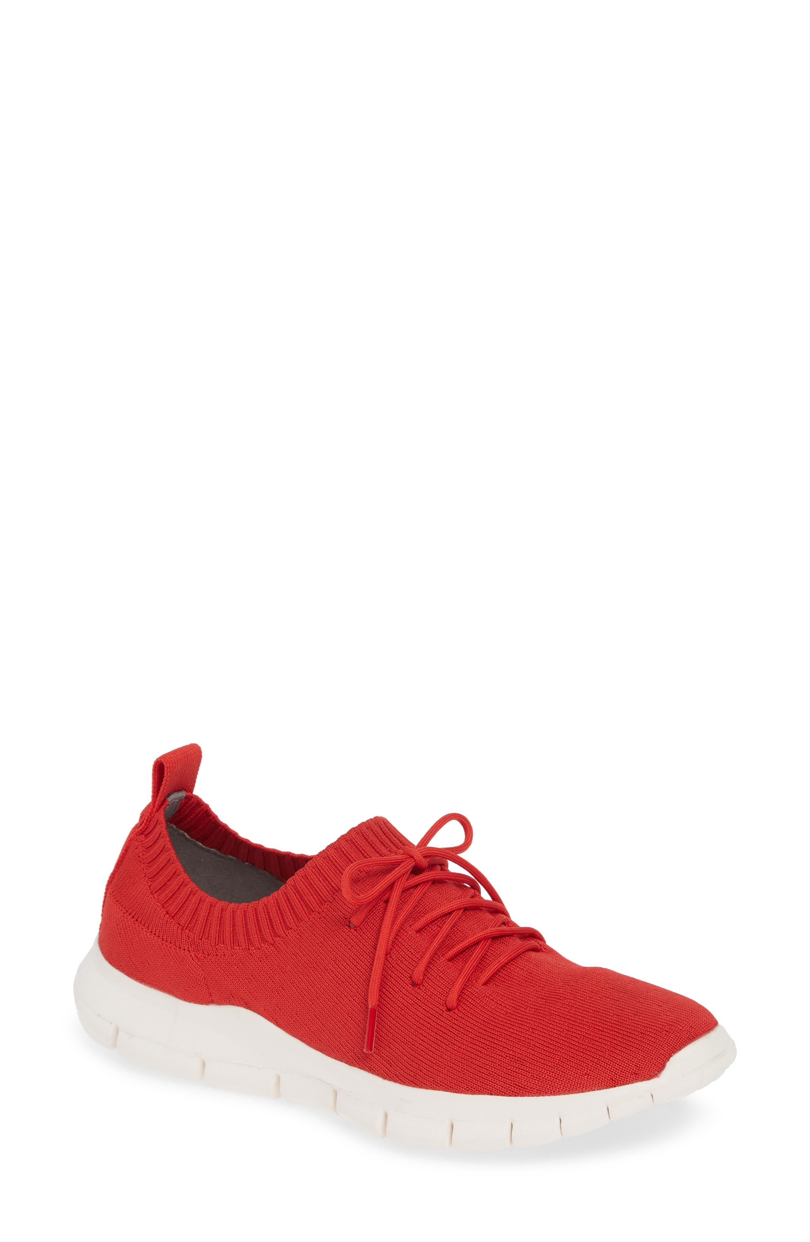 Bernie Mev Plush Sneaker, Red