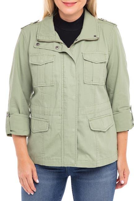 Image of Sebby Cinch Waist Anorak Jacket