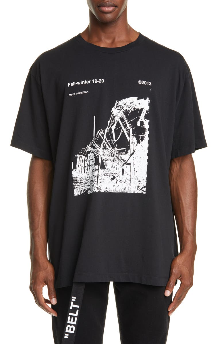 OFF-WHITE Ruined Factory T-Shirt, Main, color, 001