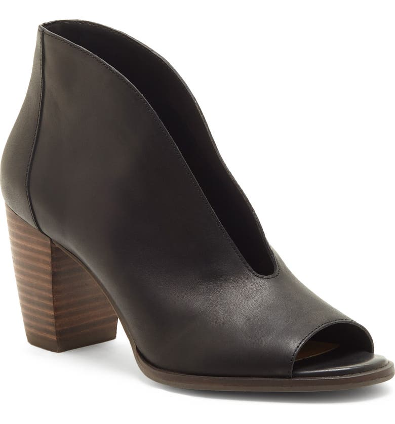 LUCKY BRAND Joal Bootie, Main, color, BLACK LEATHER
