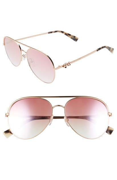 Marc Jacobs Sunglasses DAISY 58MM MIRRORED AVIATOR SUNGLASSES - GOLD COPPER
