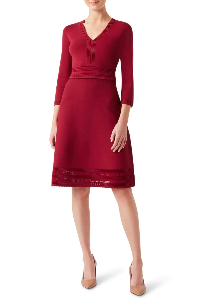 HOBBS Adalee V-Neck Sweater Dress, Main, color, 650
