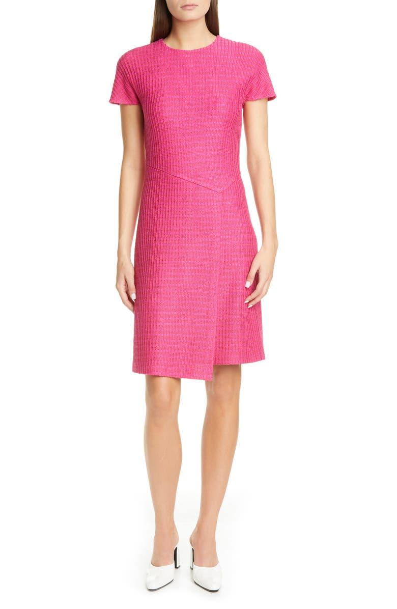 ST. JOHN COLLECTION Poppy Novelty Textured Knit Dress, Main, color, CAMELLIA MULTI