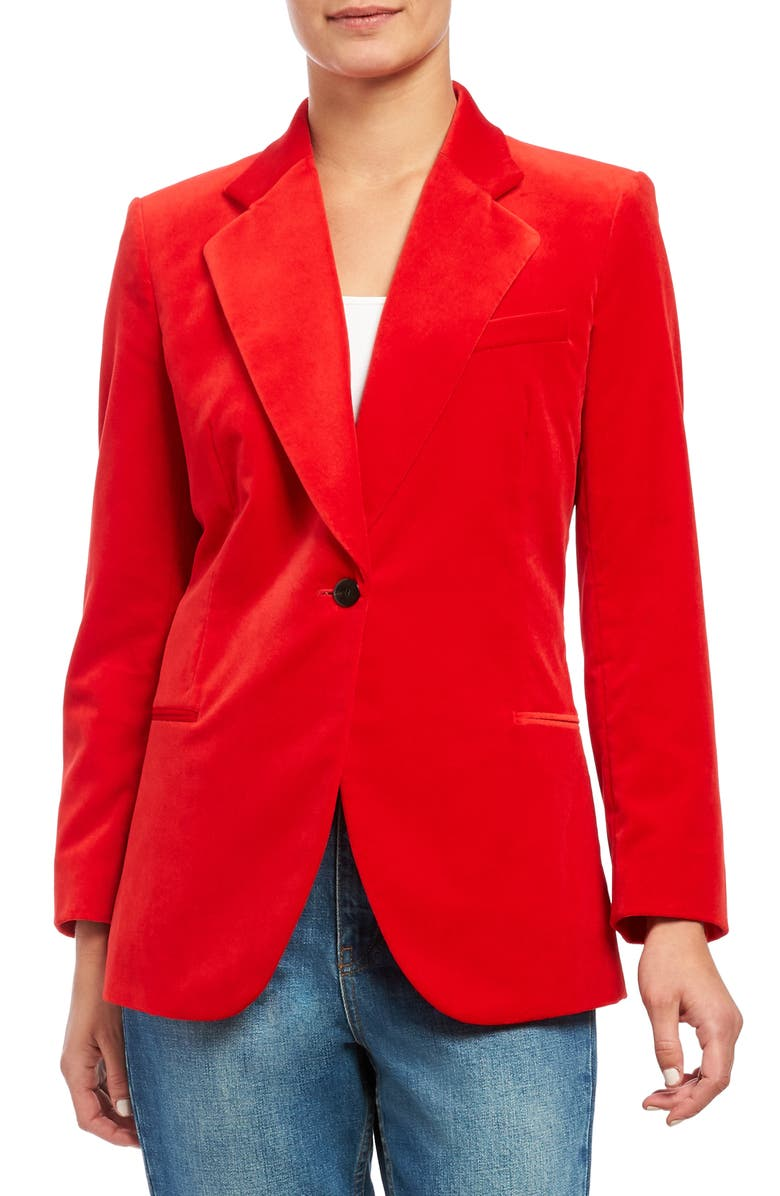 THEORY Fitted Velveteen Blazer, Main, color, 603