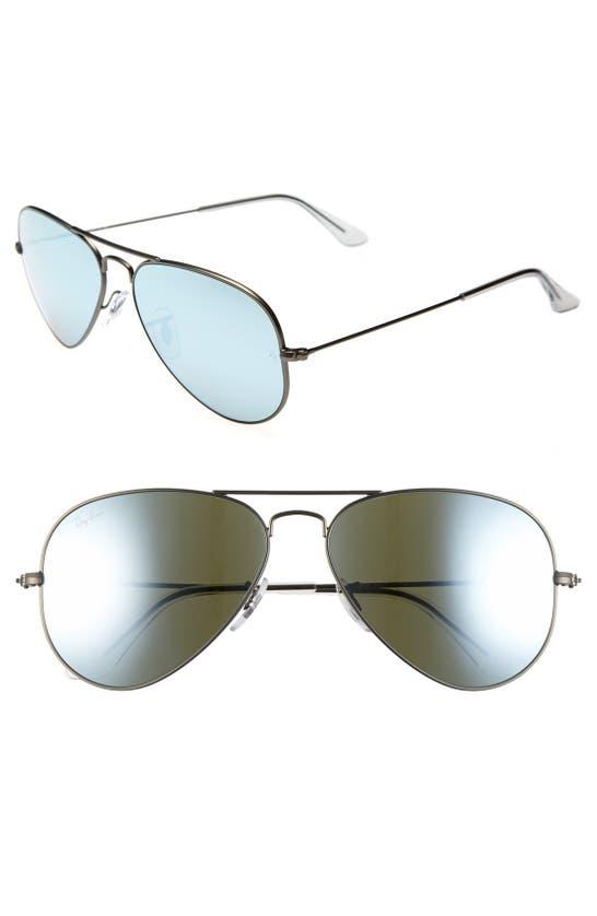 Ray Ban Standard Original 58mm Aviator Sunglasses In Green Blue